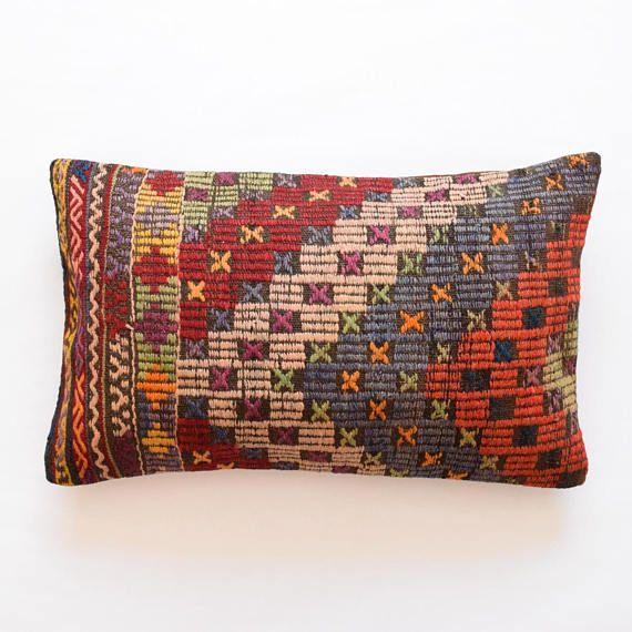 Kussenhoes 40 X 65.Kelim Kissen Turkish Cushion Kussenhoes 16x26 Pillow Coussin Boheme