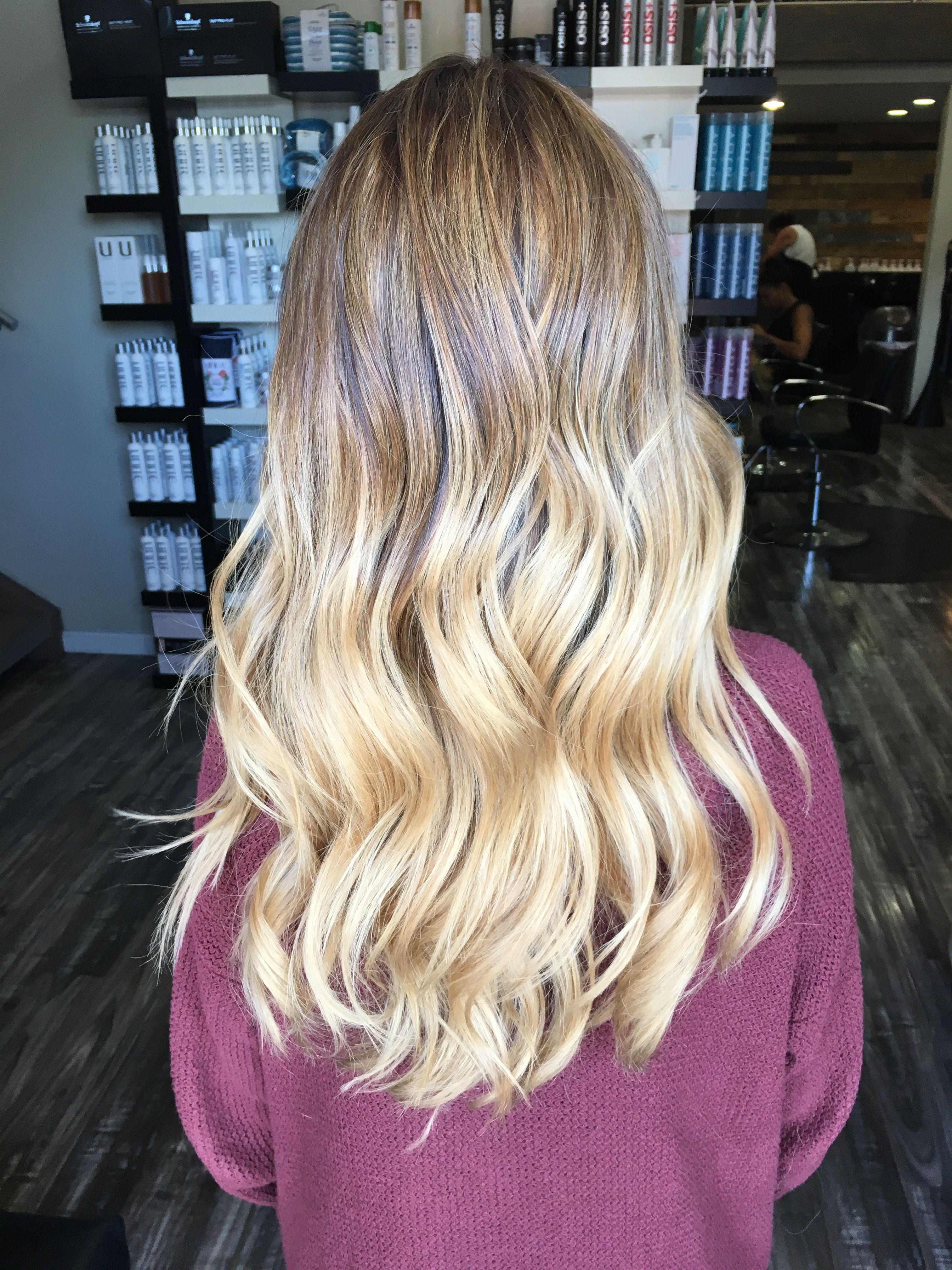 Blonde Hair Blonde Balayage Golden Blonde Hair Highlights