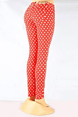 Red and white polka dot skinny jeans clothes crap pinterest red and white polka dot skinny jeans sisterspd