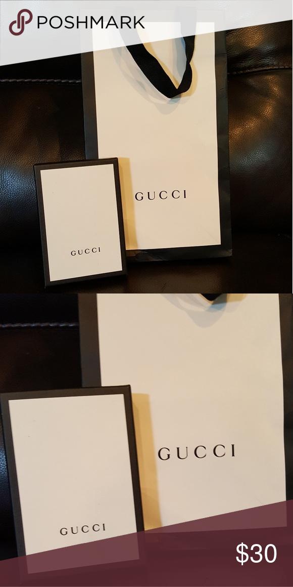 7b2eb585cff Gucci small bag and box Small size Gucci gift bag and small size box (mens  wallet came in box) Gucci Accessories
