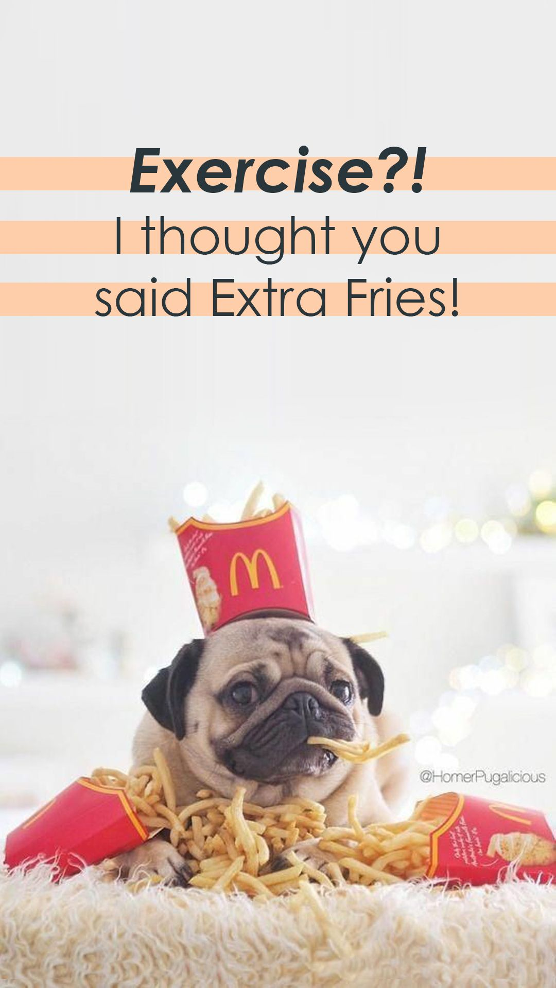 Exercise I Thought You Said Extra Fries Shop Food Inspired Activewear Show