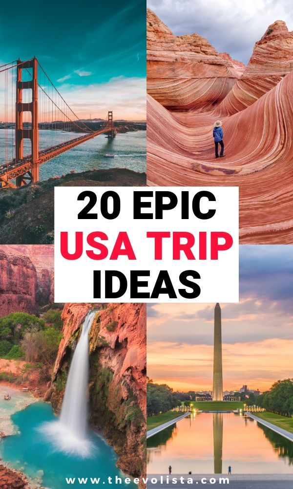 20 Epic USA Bucket List Trip Ideas