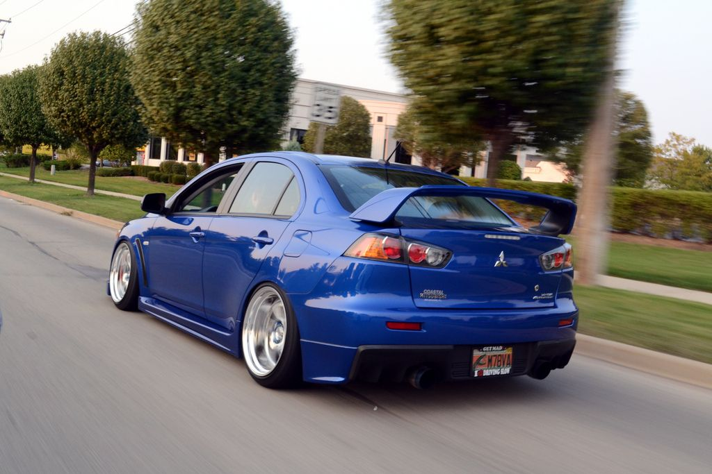 Evolution Mitsubishi Slammed