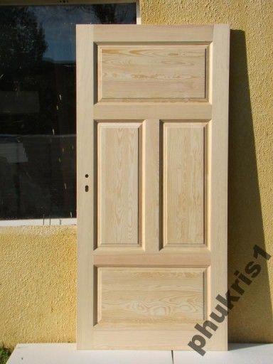 Drzwi wewnetrzne lite 100% drewniane z oscieżnicą