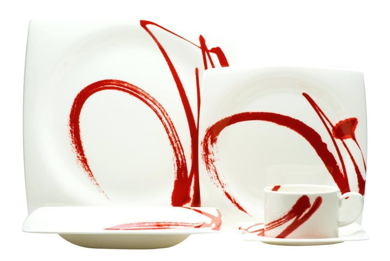 Contemporary Square Dinnerware Paint It Red Place Setting Contemporary White Square Dinner Plates | brosha.  sc 1 st  Pinterest : contemporary white dinnerware - pezcame.com