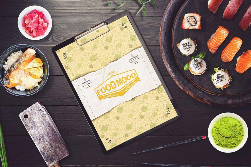 Restaurant menu mockup free download