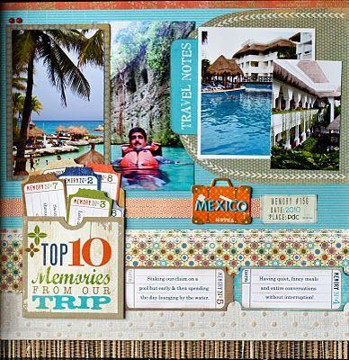 Travel Vacation Scrapbooking Layout Scrapbook Layouts