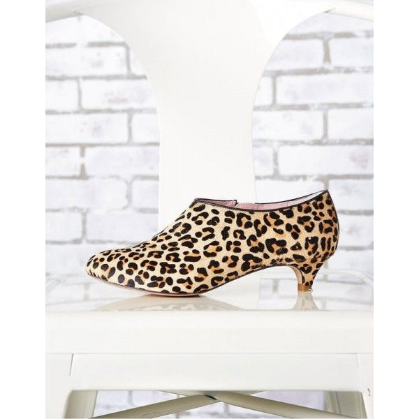 add31a11f3 Women's Khaki Kitten Heel Leopard-print Ankle Boots for Music festival,  Date, Going out FSJ Design