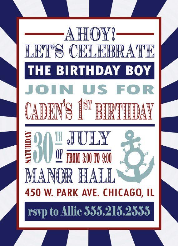 Nautical Birthday Invitation By InvitingPrintables On Etsy 1500