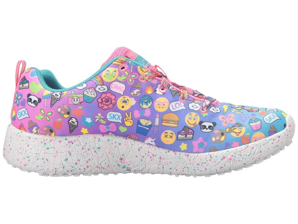 ed55a6843344 SKECHERS KIDS Burst - Emoti-Cutie 81911L (Little Kid Big Kid) Girl s Shoes  Multi