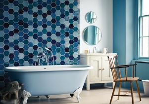Hexagon tile in bathroom { bathroom } in 2019 bagno bagni