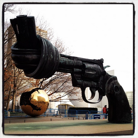 Today at the UNGA 17 countries signed the Arms Trade Treaty (ATT), including the United States - the largest arms exporter in the world.   So far 108 countries have signed the ATT and 7 have ratified it. Fifty countries need to ratify the treaty for it to enter into force.