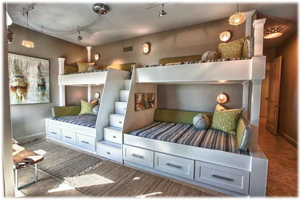 Bunk beds built into wall custom bunk beds built into 4 beds in one room