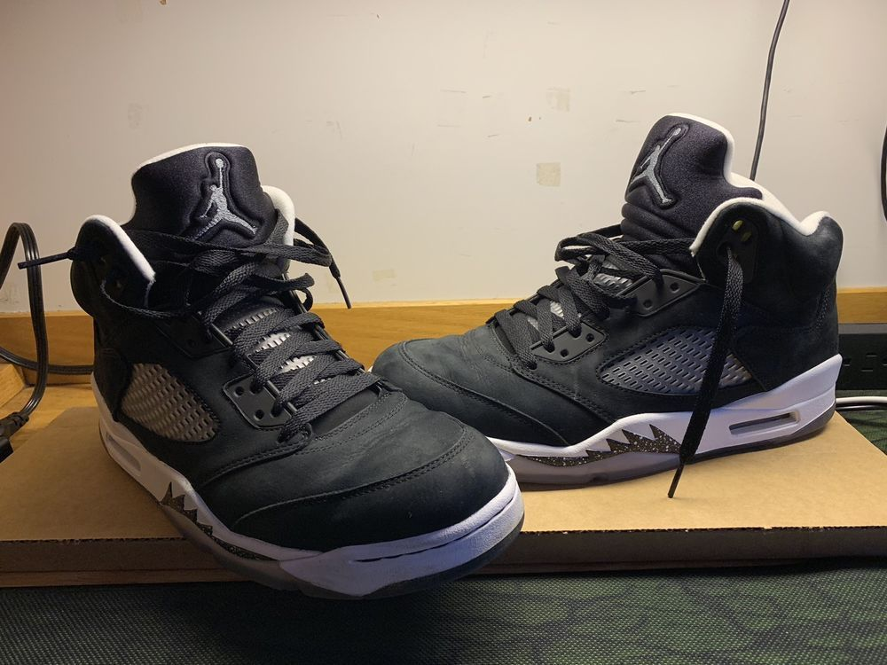 16078f60ed67c Air Jordan AJ V 5 Retro Oreo 136027- 035 Size 10.5 Black Cool Grey White