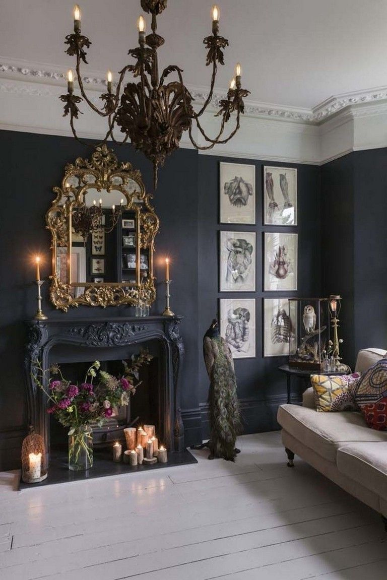 44 Top Living Room Ideas With Black Walls Chic Living Room Decor Gothic Living Rooms Boho Chic Living Room Decor