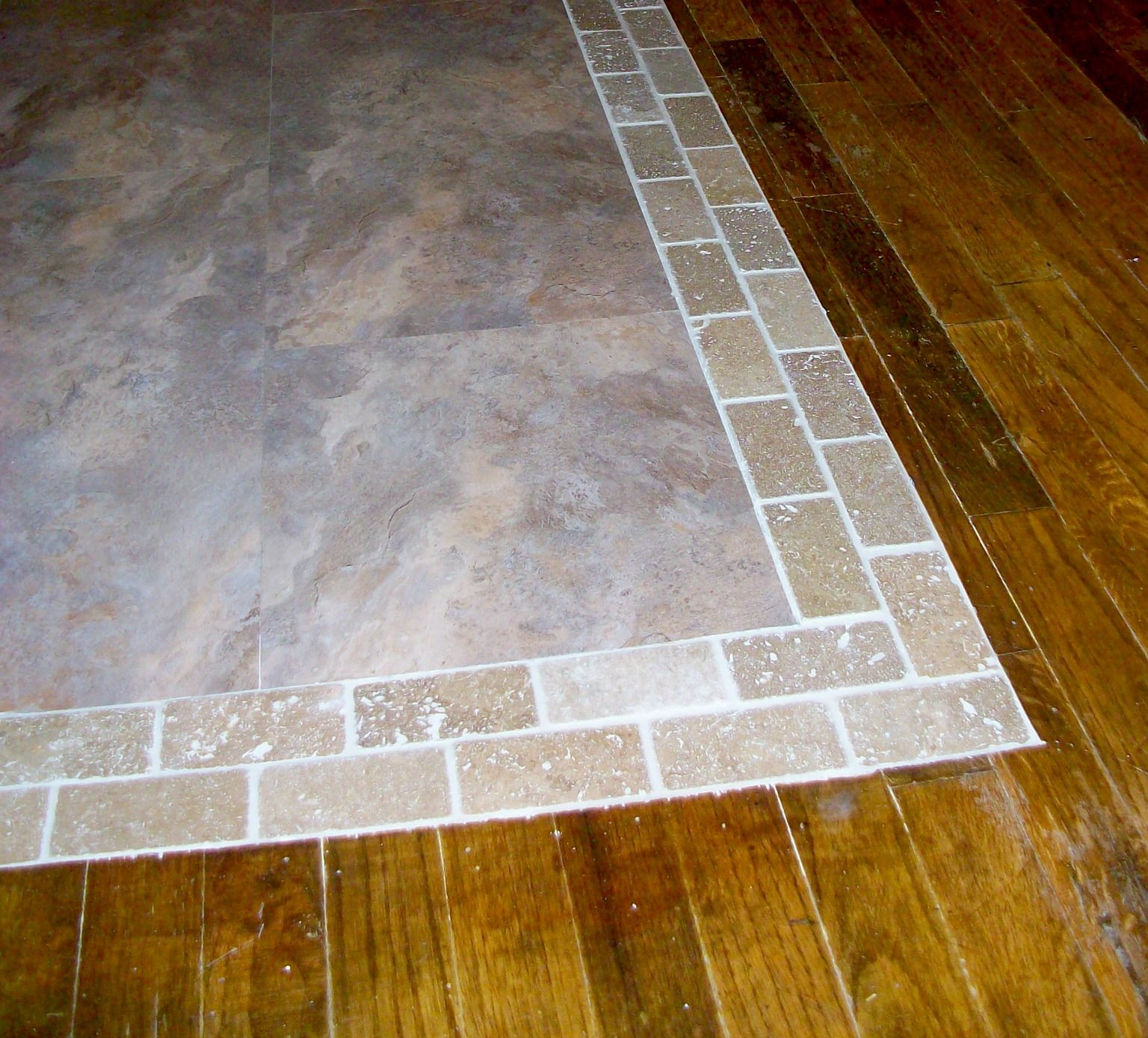 Floor transition from hardwood to tile google search for erica floor transition from hardwood to tile google search dailygadgetfo Images