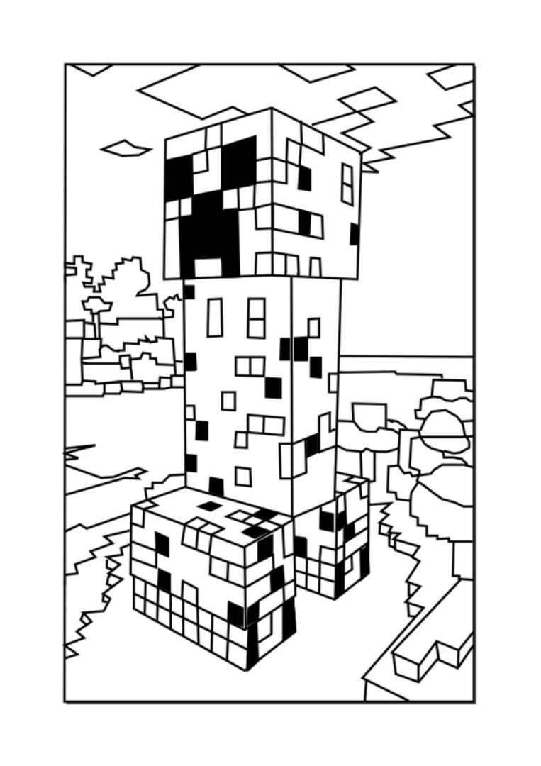 Colorings Co Minecraft Coloring Pages Creeper Coloring