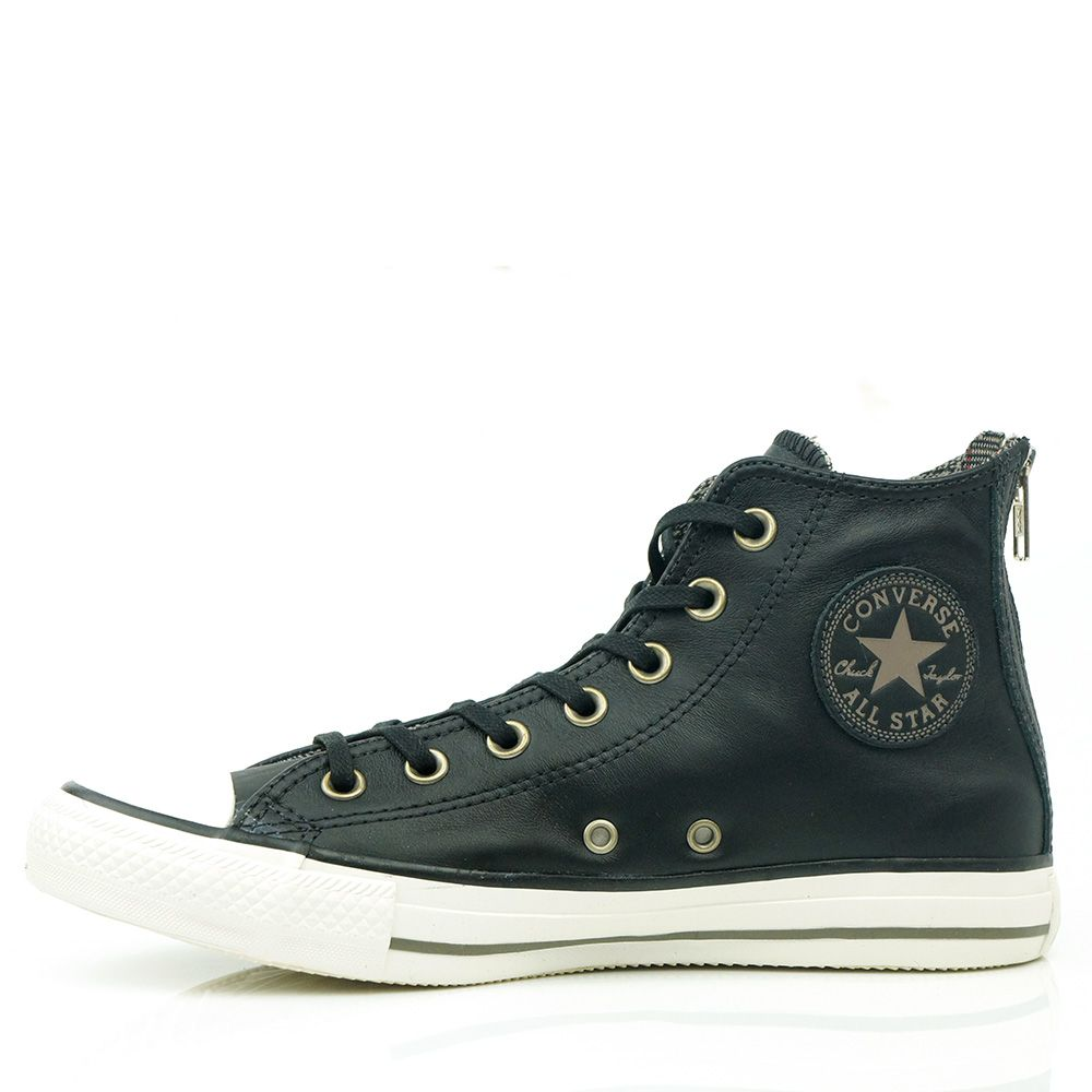 Black · Tênis Converse All Star Leather ...