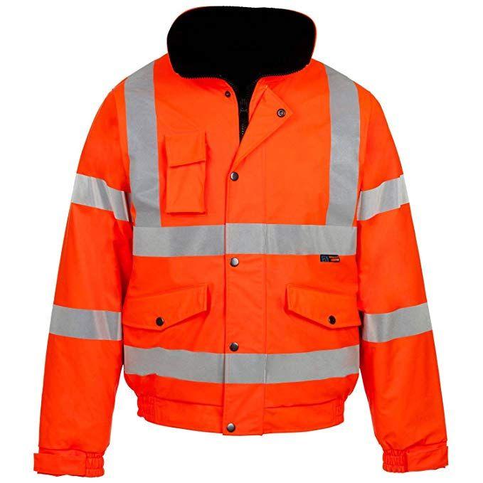 TWO TONE YELLOW NAVY HI VIZ VIS HIGH VISIBILITY SECURITY PARKA LONG JACKET COAT