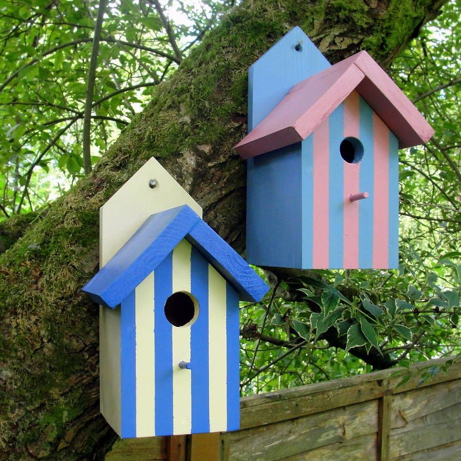 Handcrafted Beach Hut Bird House | Beach huts, Bird houses and Bird