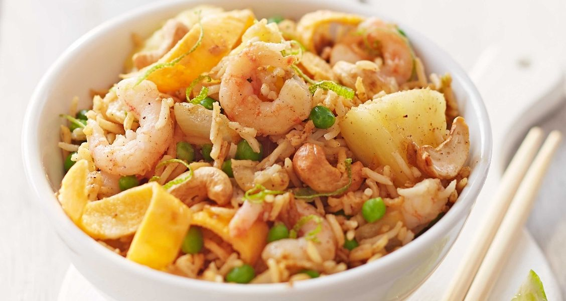 Recipe For Thai Fried Rice With Prawns And Peas