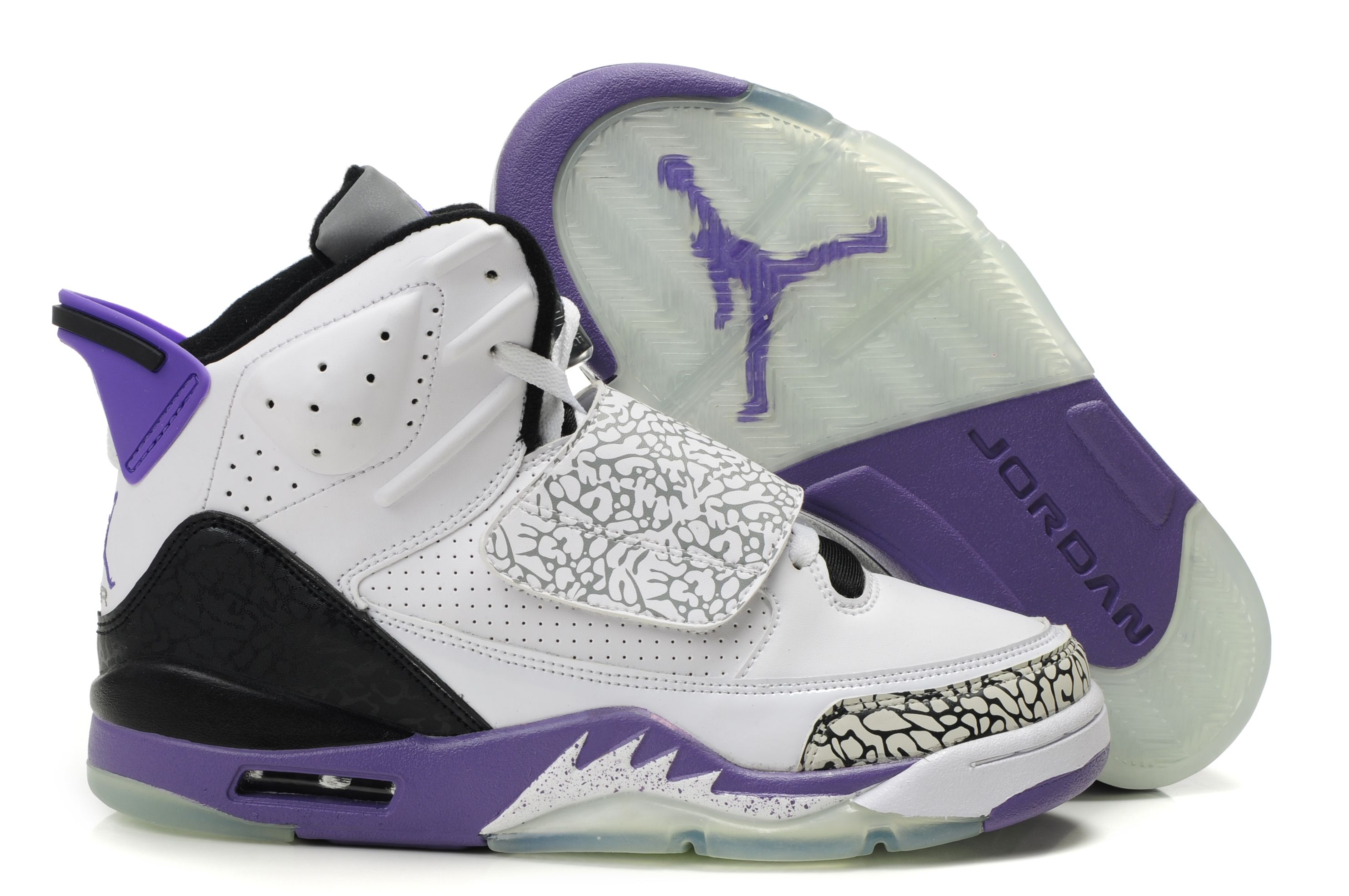 separation shoes eeb8b ec5e0 Air Jordan (Son of Mars) Purple White