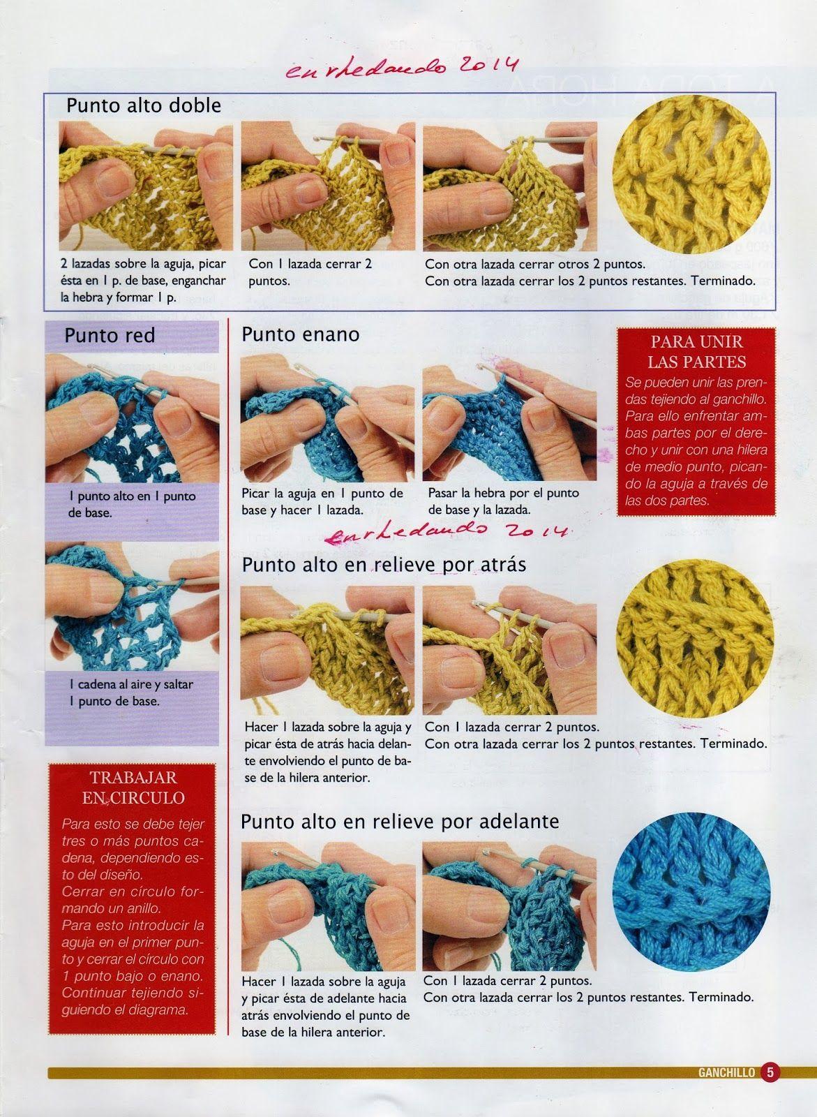 Puntos Basicos Ganchillo Tutorial Principiantes - Patrones Crochet ...