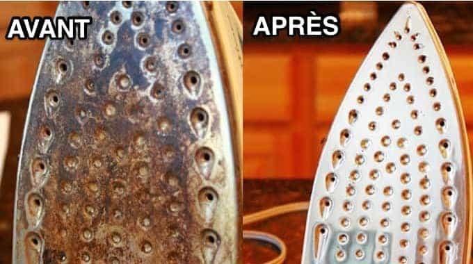 comment nettoyer un fer repasser avec du vinaigre blanc et du bicarbonate higiene a kaz. Black Bedroom Furniture Sets. Home Design Ideas