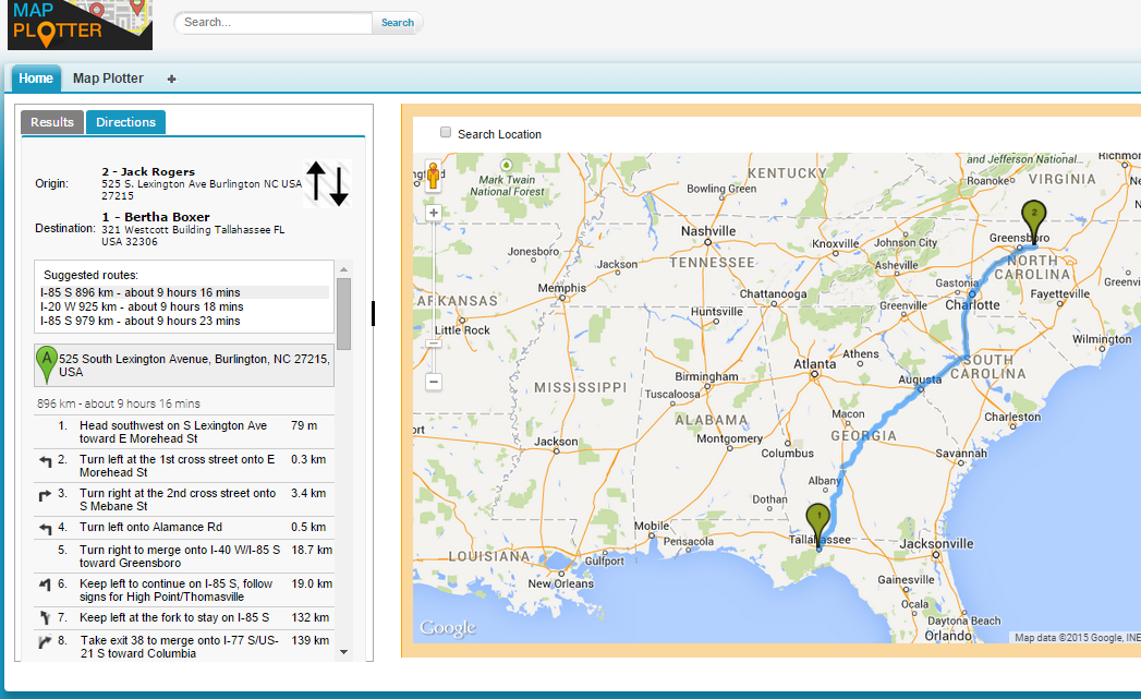 Map Plotter maps and locates Accounts, Contacts, and Leads ...