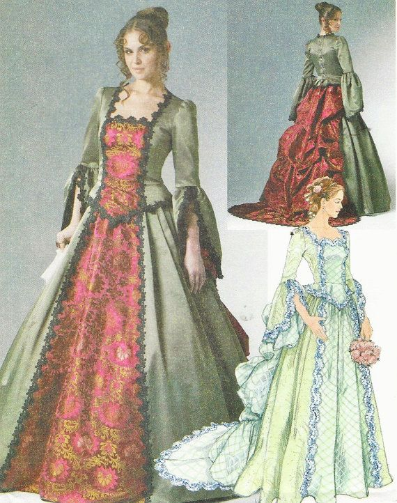 McCalls Sewing Pattern M6097 Womens Victorian Costume Top & Skirt ...