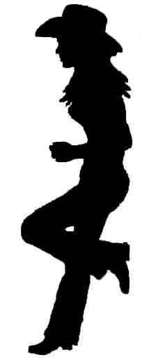Cowgirl silhouette bing images graphics black white for Cowboy silhouette tattoo