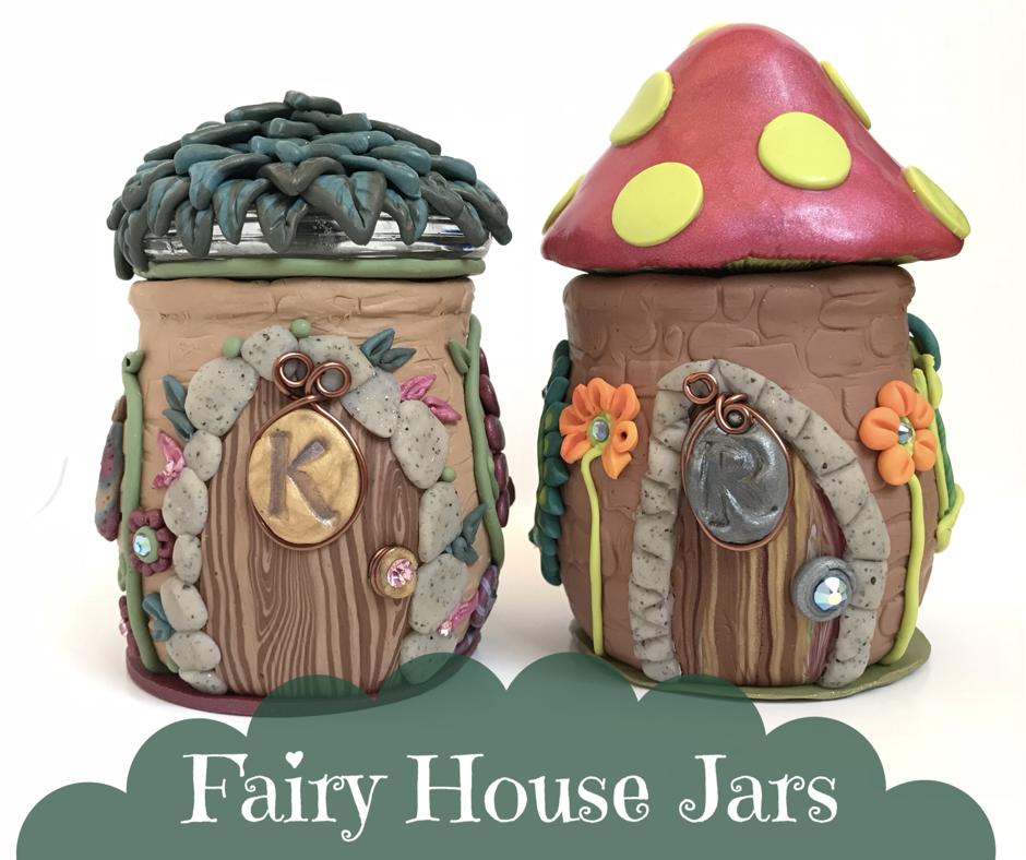Fairy House Jars #fairy #fairyhouse #polymerclay #handmade ...