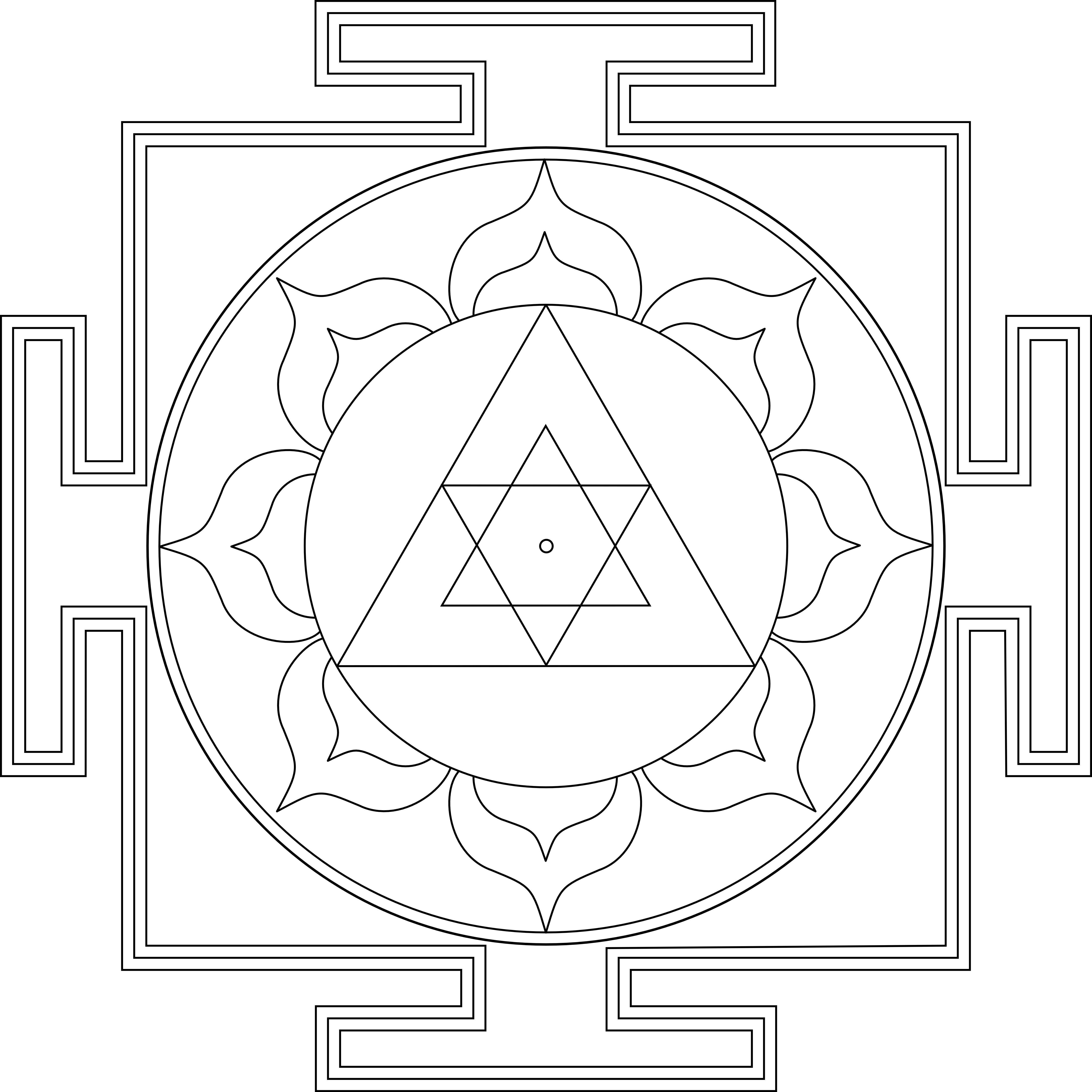 Portal de Mandalas: Yantra para pintar-Ganesha   força elementar + ...