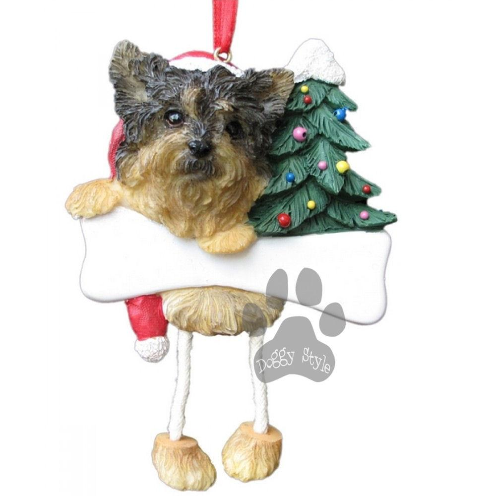 Dangling Leg Yorkie Yorkshire Terrier Puppy Dog Christmas Ornament Dog Christmas Ornaments Christmas Dog Yorkie Yorkshire Terrier