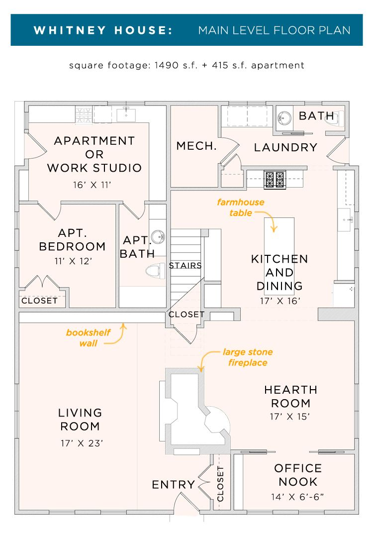 Whitney House The Floor Plans The Made Home Whitney House Cool House Designs Small House Plans