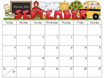 {Editable} Monthly Calendars 2017-2018 | School, Teacher ...