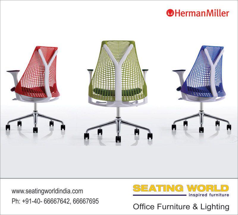 Herman Miller Chairs at Seating World    #OfficeFurniture #OfficeLighting #Hyderabad SEATING WORLD: Office Furniture and lighting. Sales Contact: office@seatingworldindia.com Ph: +91-40-66667642,66667695