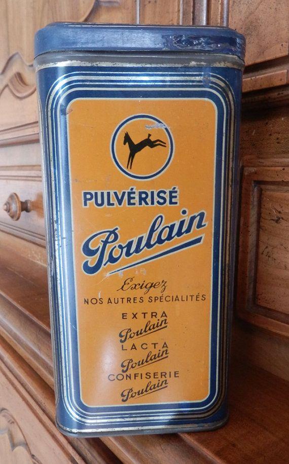 Poulain Boite Metal Vintage Boite Metal Boite Boites Anciennes