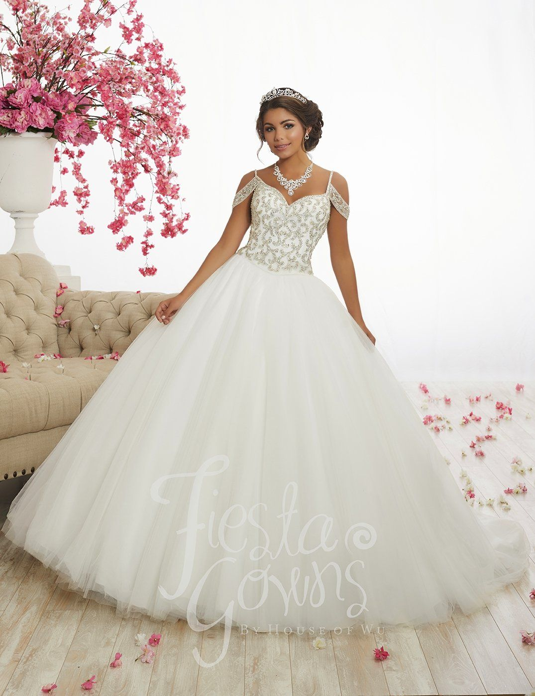 0d35c772231 Beaded Two-Piece Quinceanera Dress by Fiesta Gowns 56342 in 2019 ...