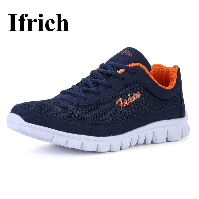 de4acb93c48d1 Ifrich 2017 Summer Athletic Running Shoes Black Blue Trail Running Trainers  Black Blue Men Gym Shoe
