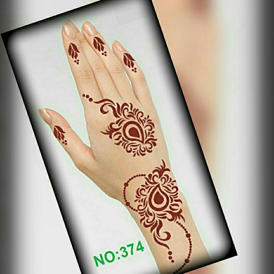 Pin By مملكتي لاستكرات الحنا On ملصقات Henna Hand Tattoo Hand Henna Henna Designs