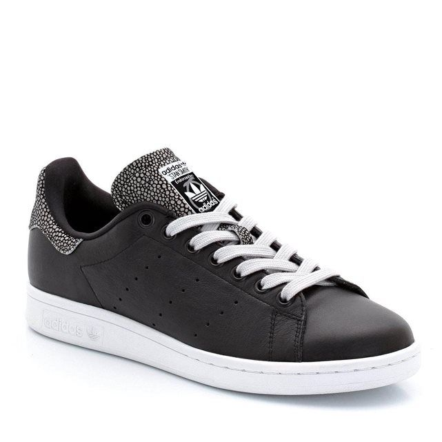 super popular b403a c2ad1 Baskets basses en cuir, à lacets, détails motifs reptile, STAN SMITH W  ADIDAS