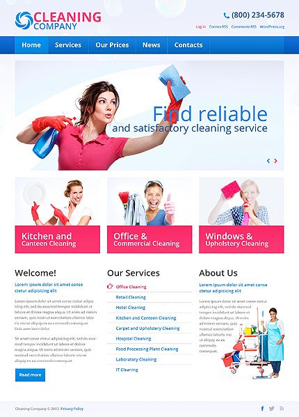 Cleaning Services WordPress Theme | Cleaning companies, Blog and ...