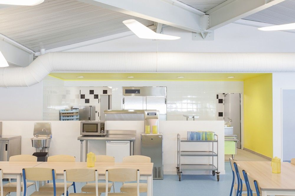 gallery of pajot school canteen atelier 208 9 canteen spaces and modern. Black Bedroom Furniture Sets. Home Design Ideas