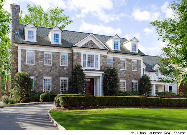 Gorgeous stone colonial in rye ny evokes classic for Classic colonial homes