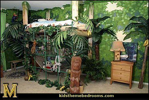fabulous jungle house bedroom pictures | rainforest themed bedroom oTvG8ab0 | Safari bedroom ...