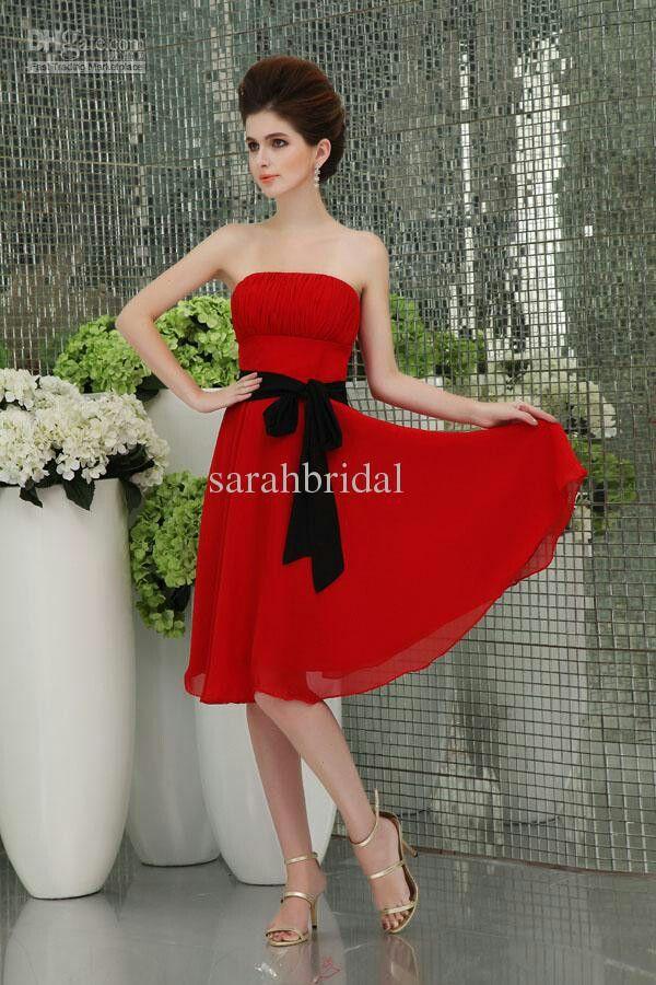Red Bridesmaid Dress Redblack And White Bridesmaids Dresses