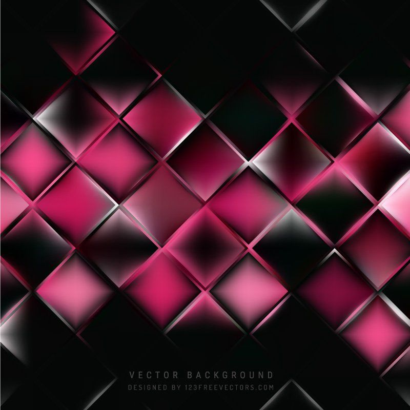 Abstract Black Pink Square Background | Background ...Pink And Black Background Vector Designs