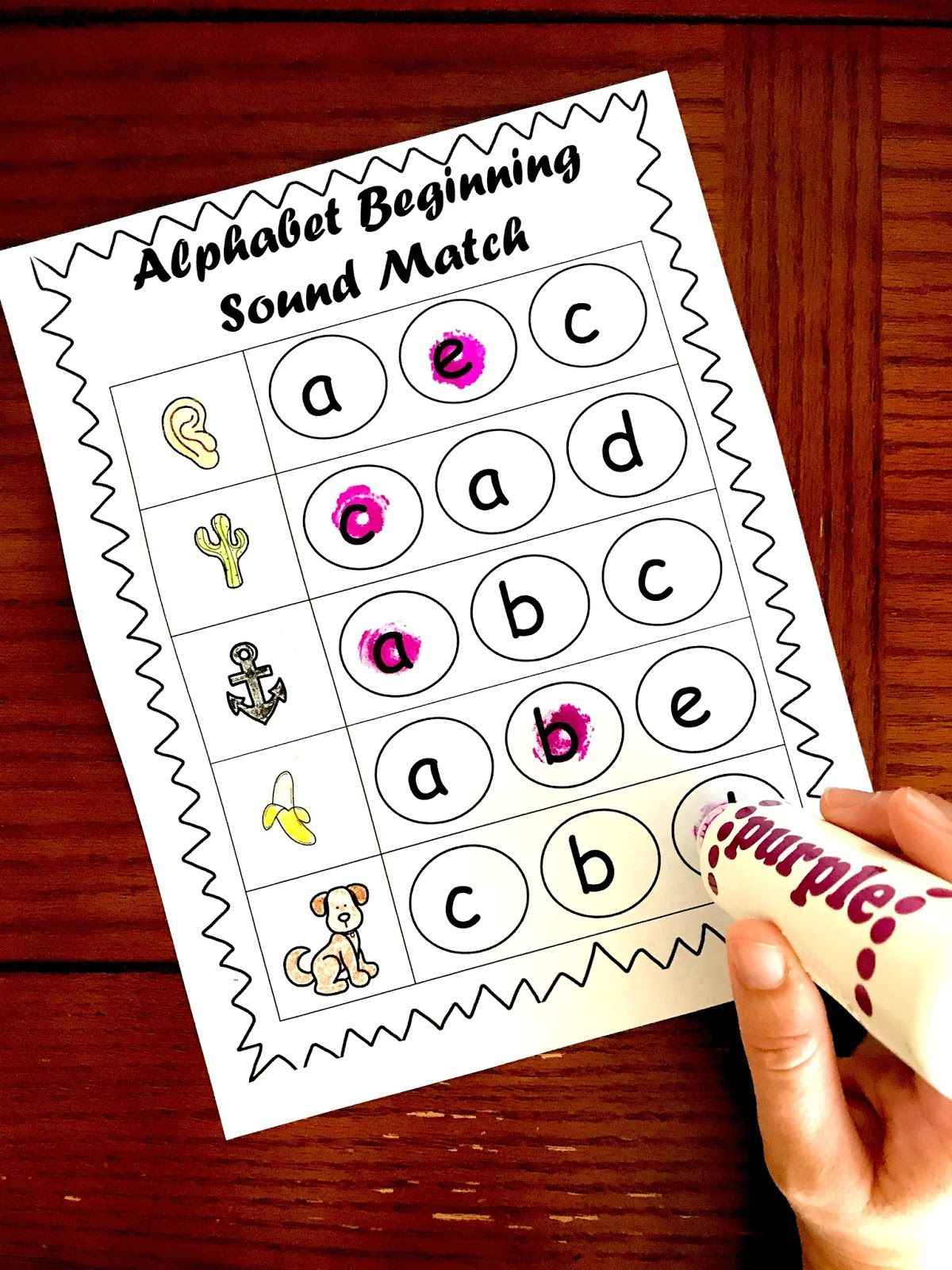 Beginning Sounds Worksheets With Images