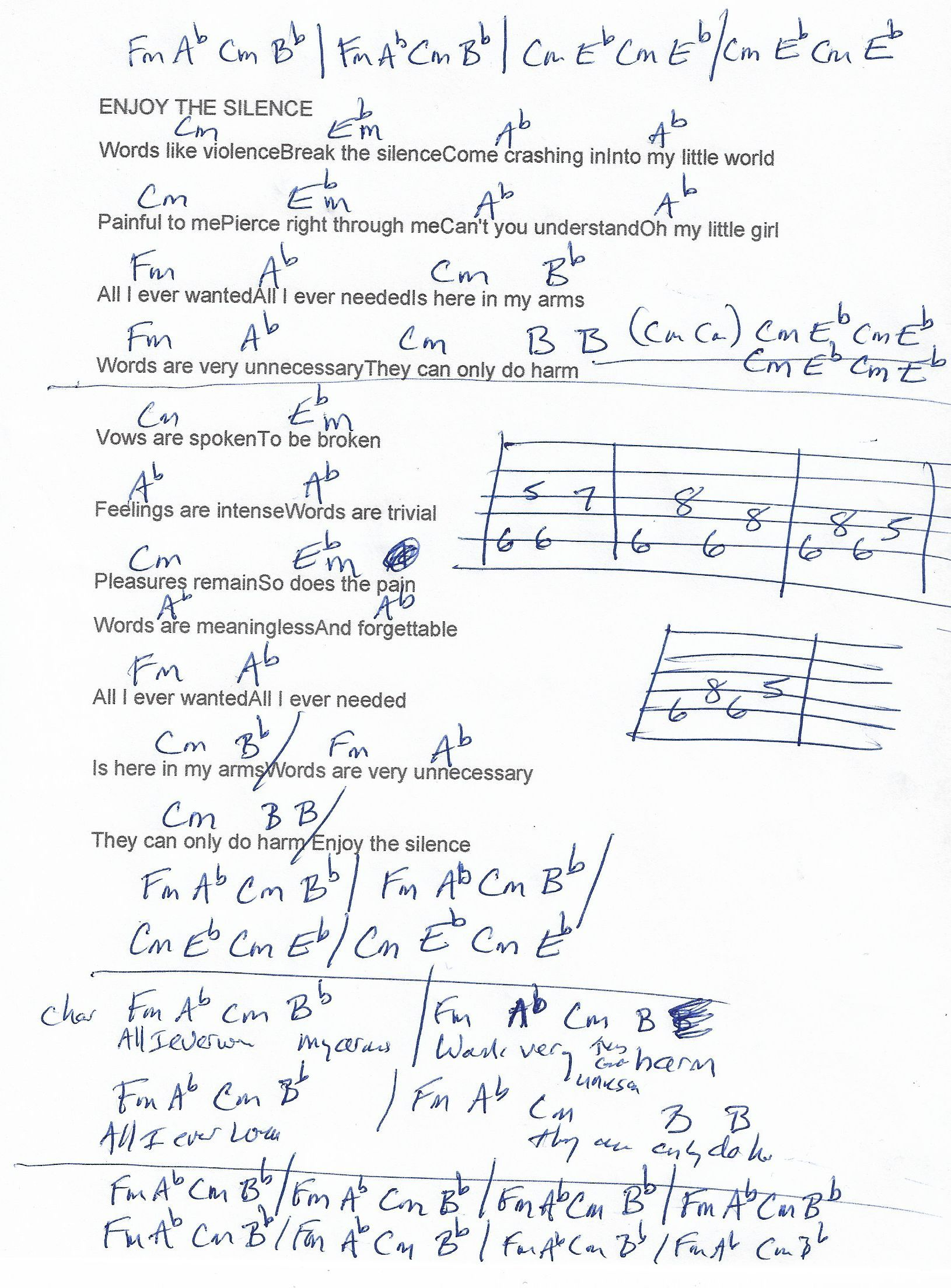 depeche mode chords
